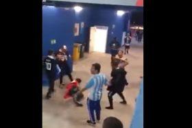 Argentina, Croacia, Rusia 2018, hinchas, simios, golpiza, croata, video, FIFA