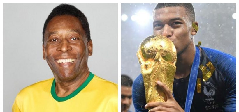 Pelé, Kylian Mbappé, Rusia 2018, Mundial, Twitter