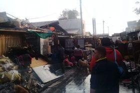 La Pintana, incendio, 10 casas destruidas, 100 personas damnificadas