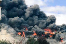 Incendio, Líder, Supermercado, Osorno, La Casona, video, fotos