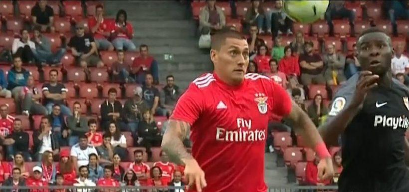 Nicolás Castillo, Benfica, video, golazo, International Championship Cup, Sevilla