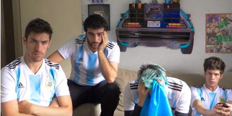 [VIDEO] ¡¡¡ESTA COPA YA LA VI!!! Los Displicentes sufrieron con la eliminación de Argentina en Rusia 2018