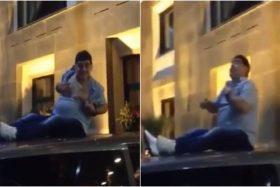 Diego Maradona, ebrio, drogado, techo, pechos, Bielorrusia