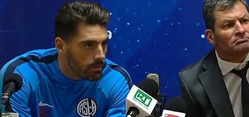 Nicolás Navarro, arquero, San Lorenzo, Deportes Temuco, risas, periodistas, Copa Sudamericana, Esto en Argentina no pasa