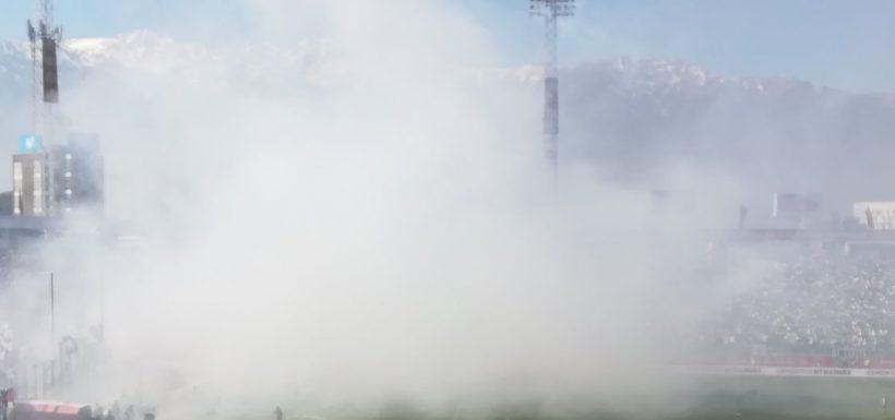 Intendencia Metropolitana, clausura Estadio Monumental, fuegos artificiales, bengalas, Superclásico, Karla Rubilar
