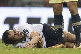 Alejandro Arribas, escalofriante lesión, luxación de codo, Pumas, América, Martín Rodríguez, Felipe Mora
