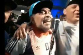 Diego Maradona, ebrio, borracho, drogado, Pepo, Show, cumbia, insulto, presidente, Mauricio Macri