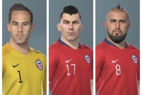Selección Chilena, PES 2019, Alexis Sánchez, Arturo Vidal, Gary Medel, Claudio Bravo