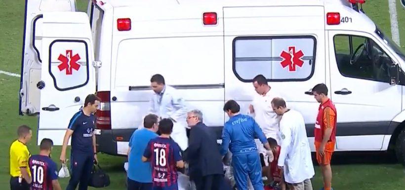 Rodrigo Rojas, inconsciente, Cerro Porteño, Palmeiras, ambulancia, Copa Libertadores