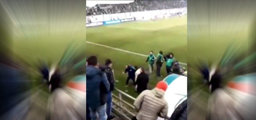 San Lorenzo, agresión, video, hincha, Deportes Temuco, Conmebol