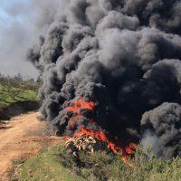 Incendio, neumáticos, Villa Alemana, Rinconada de Maipú, Bomberos