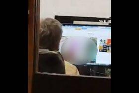 [VIDEO] ¡Polémica! Filtran imágenes de funcionario de Juzgado de Santiago viendo videos eróticos en horario de trabajo