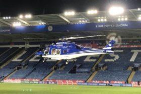 [VIDEO] Terrible: Cámara de seguridad revela el momento exacto que helicóptero se Leicester se estrelló