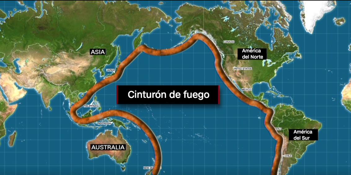 Resultado de imagen para anillo de fuego del Pacifico tres nuevos sismos golpean la costa de Nueva Caledonia