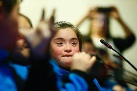 ¡Aleccionador! Participantes del programa de inclusión laboral atienden visita de jóvenes con discapacidad al Congreso de Chile