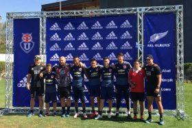 """[VIDEO] ¡Maories azules! La mejor selección del mundo de rugby entrenó con el plantel de la """"U"""""""