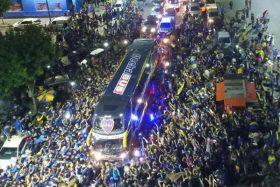 [VIDEO] ¡Increíble! La apoteósica despedida de Boca camino a la final de Copa Libertadores