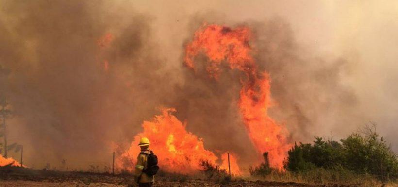 [VIDEO] Dramáticos momentos: Incendio fuera de control en Limache alcanzó al menos siete casas