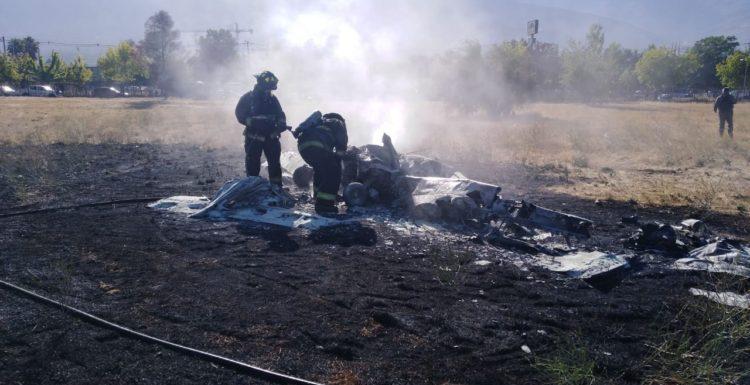[VIDEO] Aeronave se incendió y captó en el Aeródromo de Tobalaba