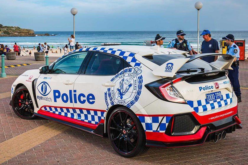 Policía australiana tiene un Civic Type R
