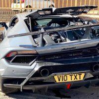 Choque Lamborghini Huracan Performante