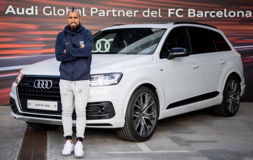 Audi regaló auto a Arturo Vidal