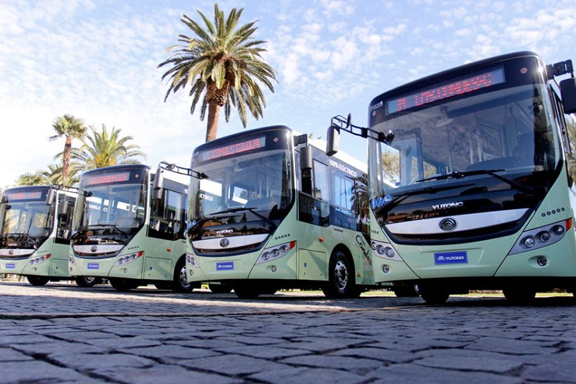 Buses eléctricos Las Condes