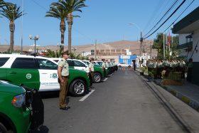 Carabineros de Arica recibieron 23 nuevos vehículos