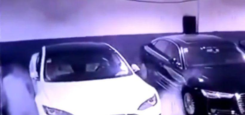 Tesla Model S explosión