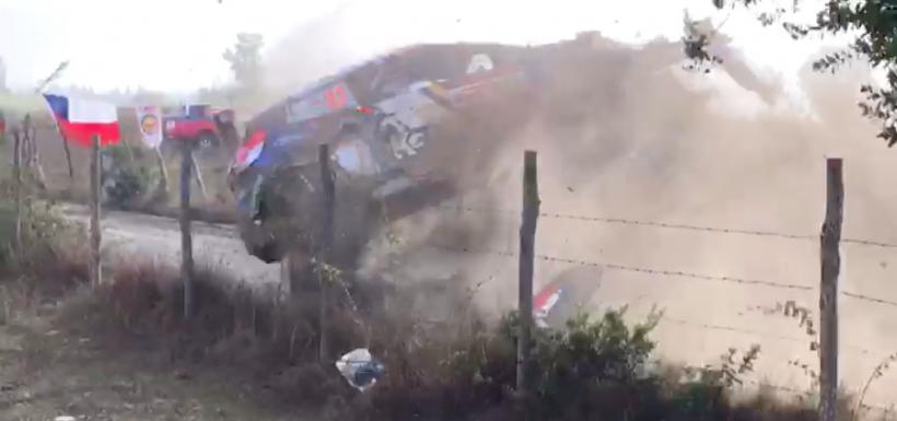 Alberto Heller se volcó en el WRC Chile