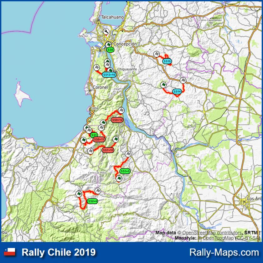 Rutas WRC Chile 2019