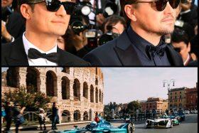 Leonardo DiCaprio Orlando Bloom Formula E