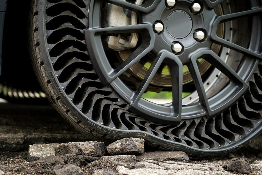 Nuevos neumáticos sin aire de Michelin y General Motors