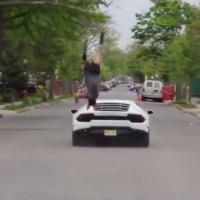 Trató de saltar un Lamborghini y falló completamente