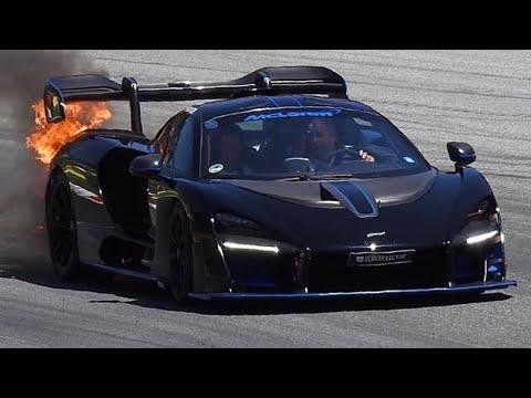 McLaren Senna incendio
