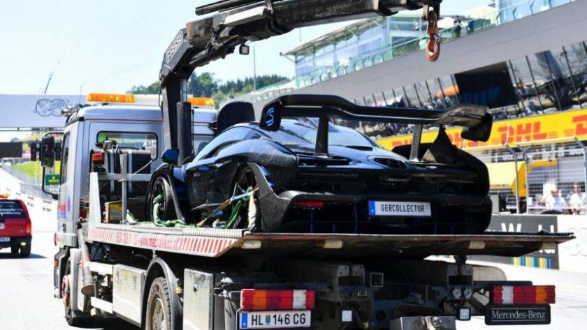 McLaren Senna quemado