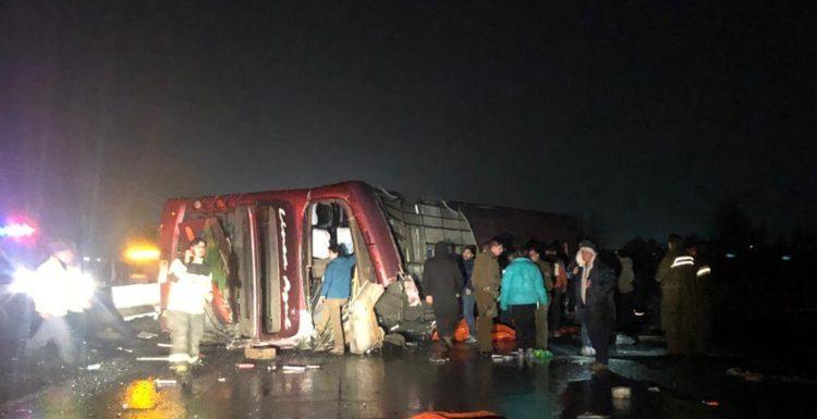 accidente de bus línea azul
