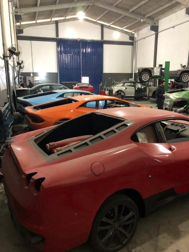 Policía brasileña cerró fábrica de Lamborghinis y Ferraris falsos