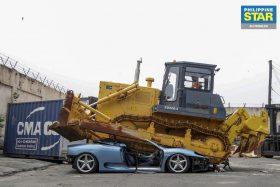 Ferrari 360 destruida en Filipinas