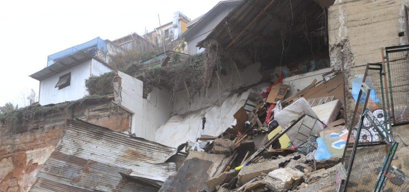 nuevo derrumbe Valparaíso