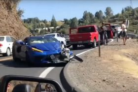 Corvette C8 accidente