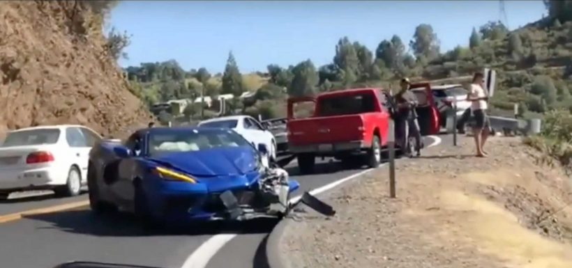 Corvette C8 accidente