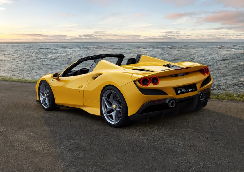 Ferrari F8 Spider back