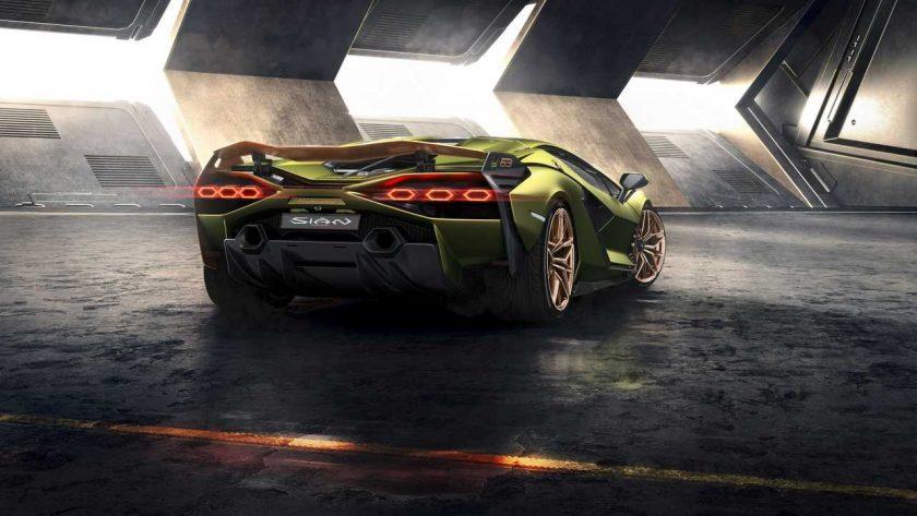 Lamborghini Sian atrás