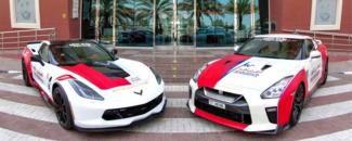 Nissan GT-R Corvette C7 Dubai