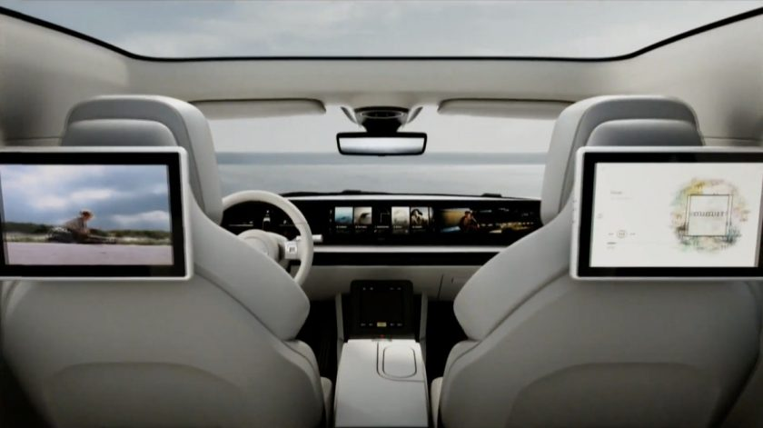 Sony Vision-S interior