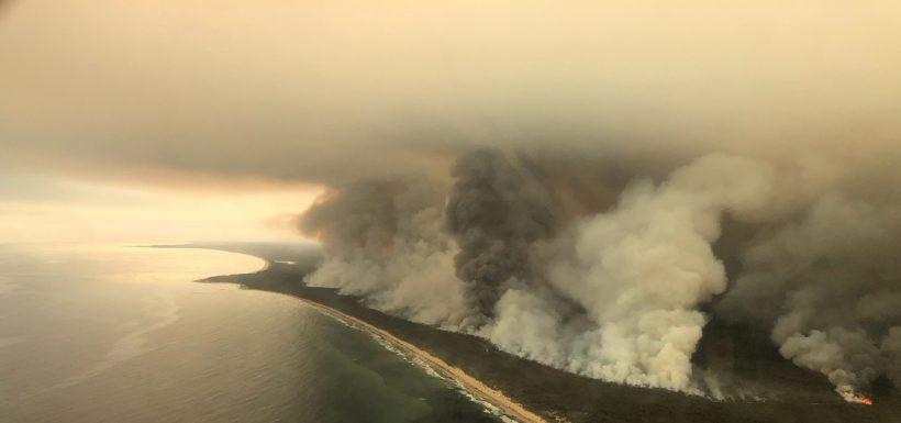 humo de incendios de Australia