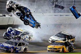 accidente NASCAR