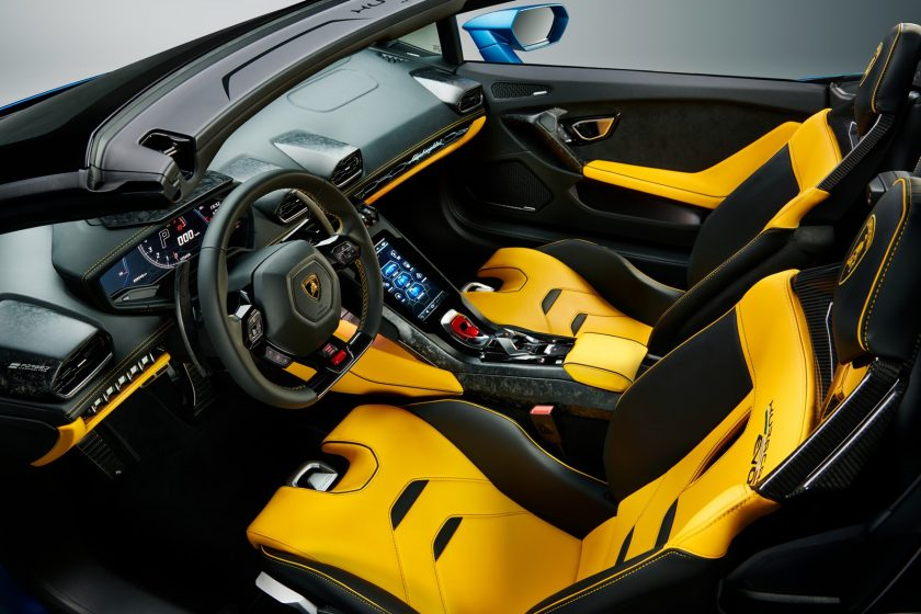 Lamborghini Huracan Evo RWD Spyder interior