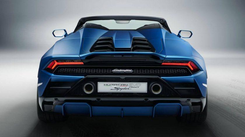 Lamborghini Huracan Evo RWD Spyder back
